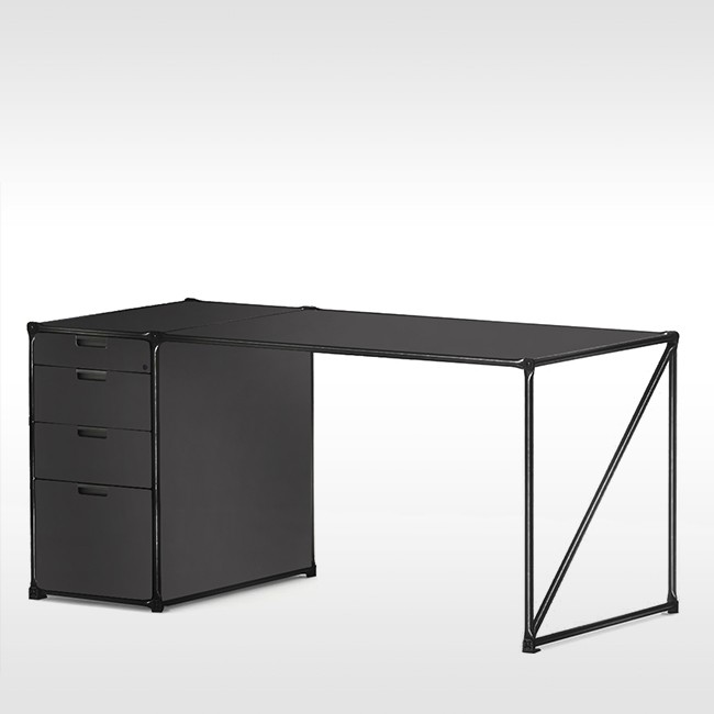 System 180 bureau Desk 40143 BlackLine door System 180