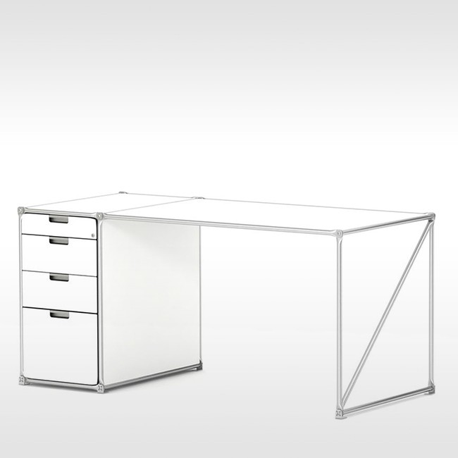 System 180 bureau Desk 40143 SteelLine door System 180