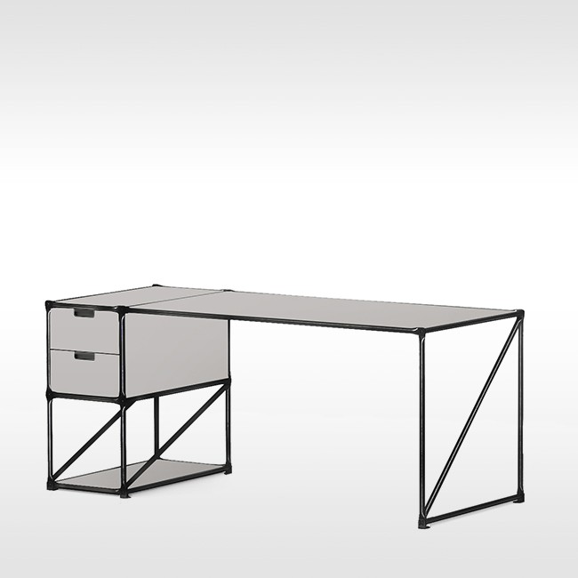 System 180 bureau Desk 40186 BlackLine door System 180