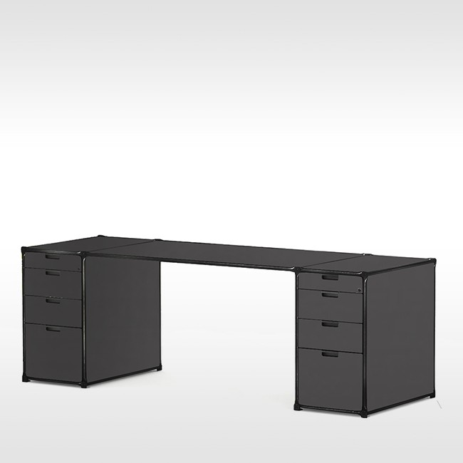 System 180 bureau Desk 40187 BlackLine door System 180
