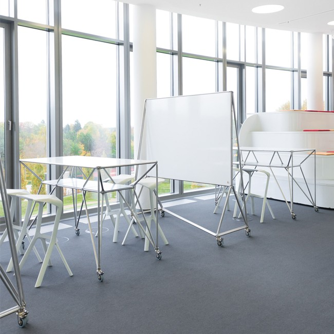 System 180 hoge tafel Design Thinking Line® Table T4 SteelLine door System 180