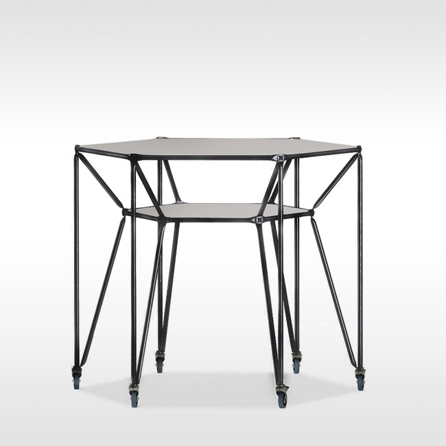 System 180 hoge tafel Design Thinking Line® Table T6 BlackLine door System 180