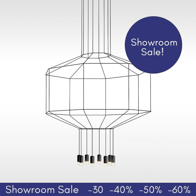SHOWROOM SALE! Vibia hanglamp Wireflow Suspension 0302 (8 LED met diffuser) door Arik Levy
