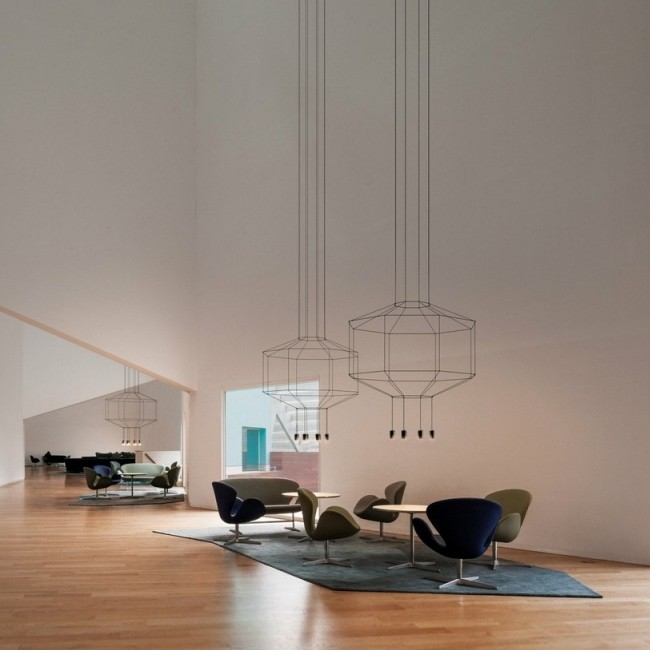 Vibia hanglamp Wireflow Suspension 8 LED zonder diffuser door Arik Levy