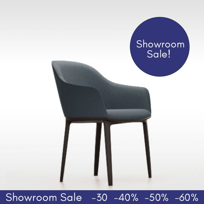 SHOWROOM SALE! Vitra stoel Softshell Chair 4-poot (Plano) door Ronan & Erwan Bouroullec