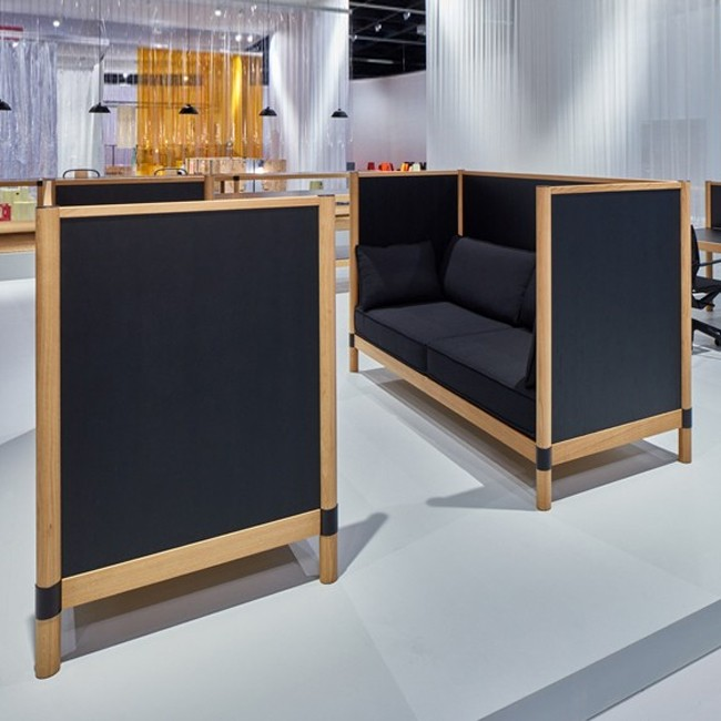 Vitra Bank Cyl Sofa Highback Wood Door Ronan Erwan Bouroullec