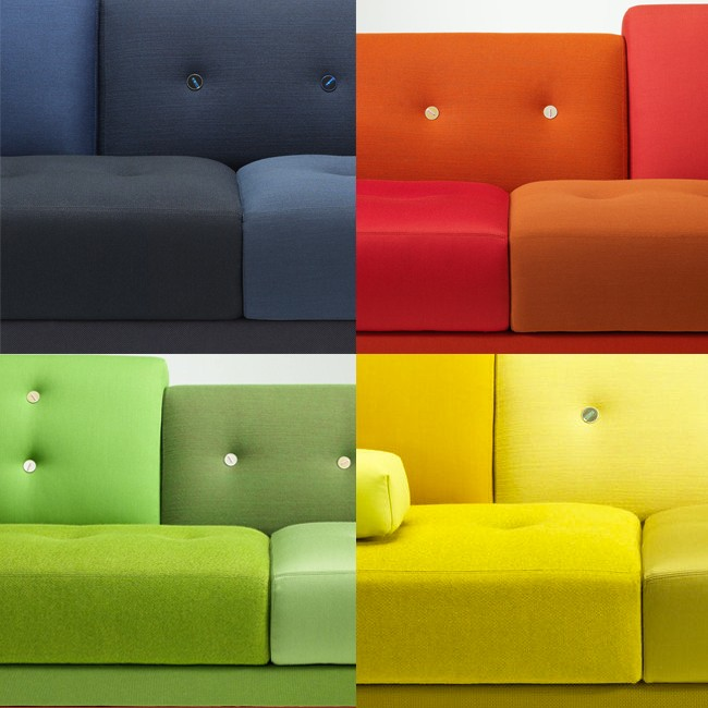 Vitra bank Polder Sofa met armleuning links door Hella Jongerius