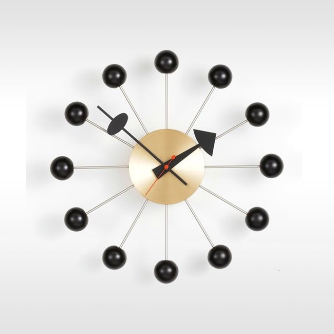 Vitra klok Ball Clock messing door George nelson