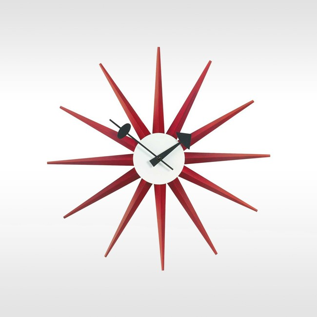 Vitra klok Sunburst Clock door George nelson