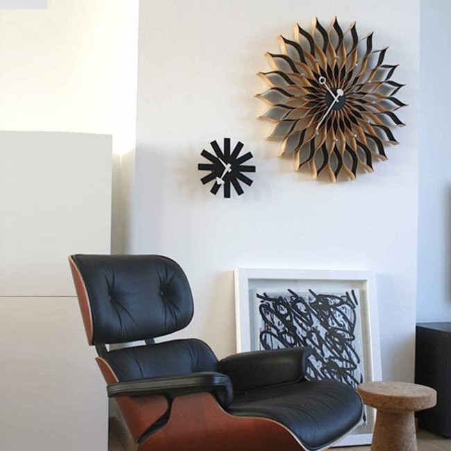 Vitra klok Sunflower Clock (berken) door George Nelson