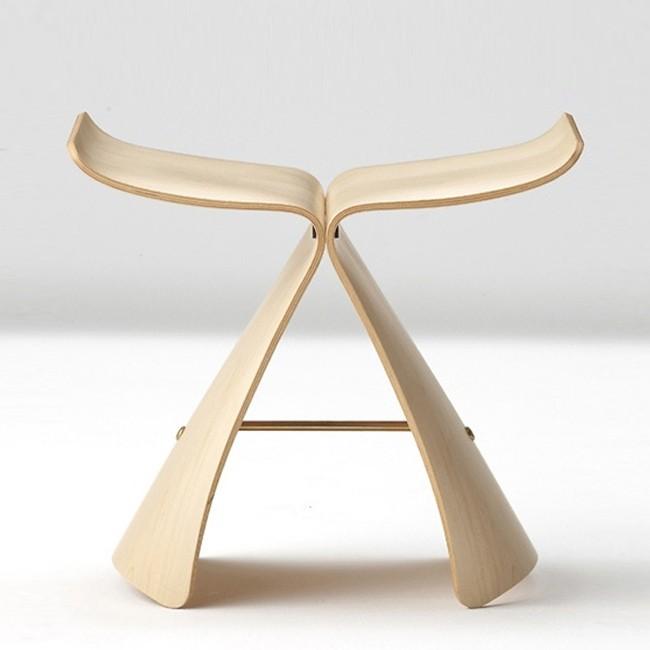 vitra kruk butterfly stool door sori yanagi. Black Bedroom Furniture Sets. Home Design Ideas