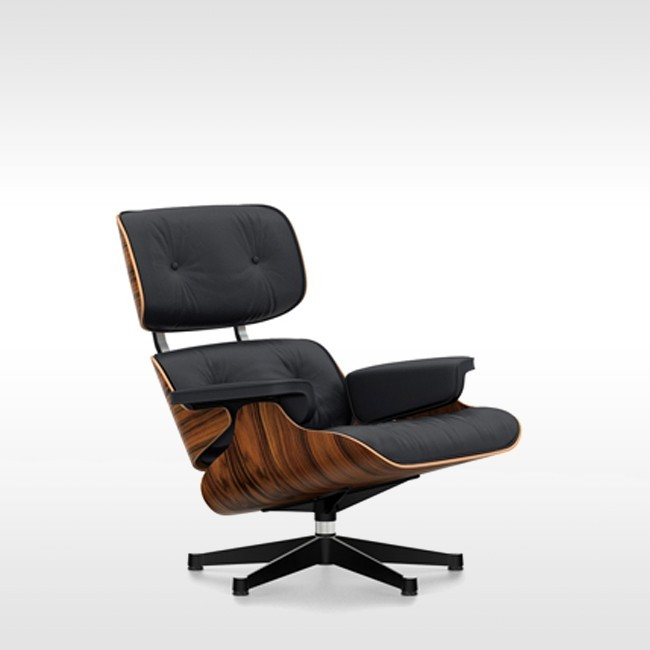 Vitra Loungestoel Eames Lounge Chair Zwart Essenhout Door