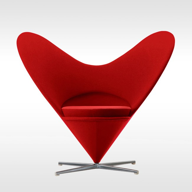 Vitra loungestoel Heart Cone Chair door Verner Panton