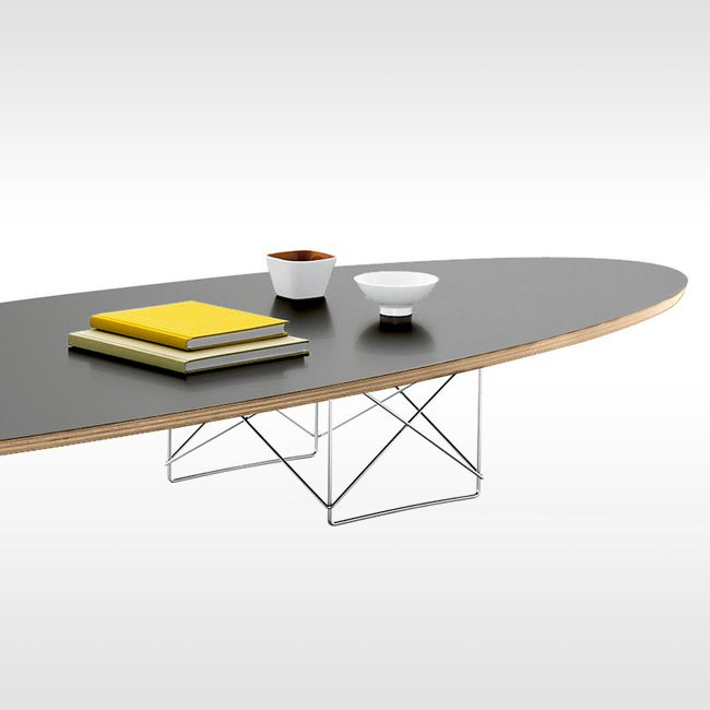Vitra salontafel Elliptical Table ETR verchroomd onderstel door Charles & Ray Eames