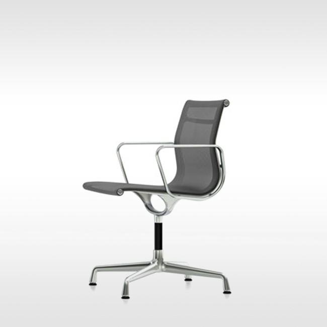 Eames Bureaustoel Replica.Vitra Stoel Aluminium Chair Ea 104 Netweave Door Charles Ray