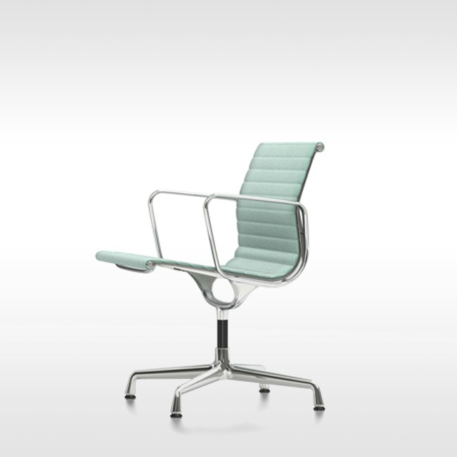 Vitra stoel aluminium chair ea 108 stof door charles ray for Charles eames stoel
