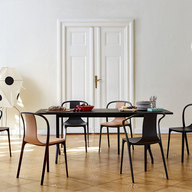 Vitra stoel Belleville Chair Leather door Ronan & Erwan Bouroullec