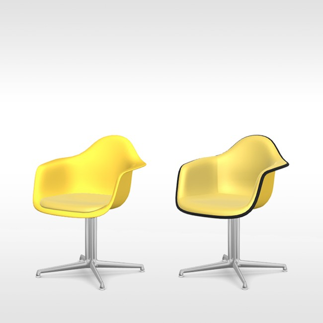 Vitra stoel Eames Plastic Armchair DAL Zonlicht bekleed door Charles & Ray Eames