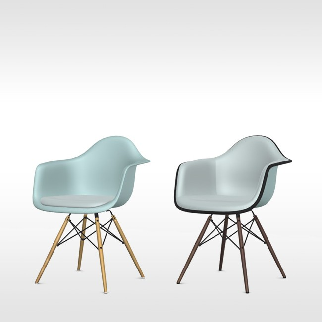 Eames stoel grijs free eames look a like replica with for Replica vitra