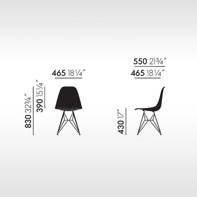 Vitra stoel Eames Plastic Chair DSR Quick Ship Programma door Charles & Ray Eames
