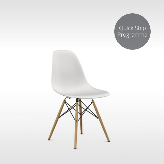 Vitra stoel Eames Plastic Side Chair DSW Quick Ship Programma (Houten onderstel) door Charles & Ray Eames