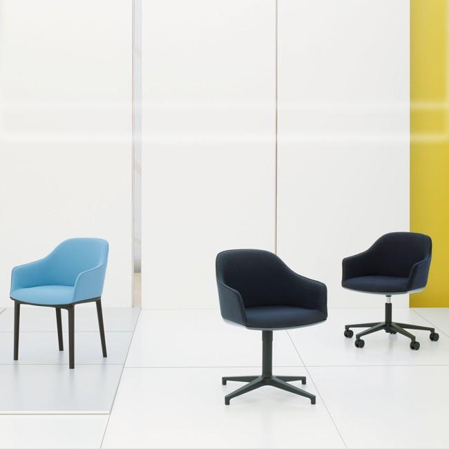 vitra stoel softshell chair fourstar zwart onderstel door. Black Bedroom Furniture Sets. Home Design Ideas