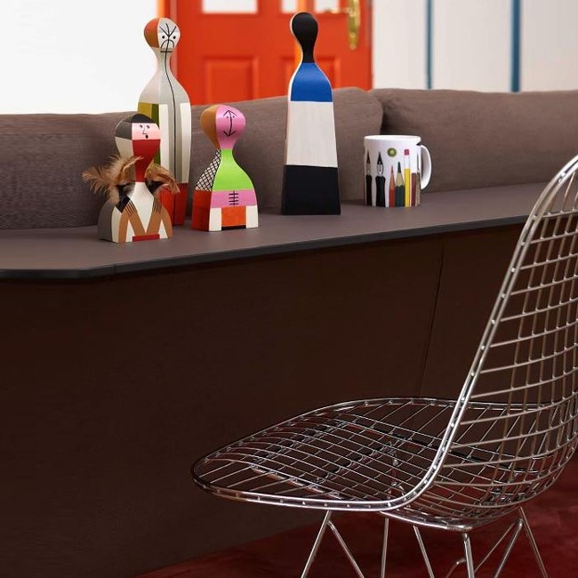 Vitra stoel Wire Chair DKR (verchroomd) door Charles & Ray Eames