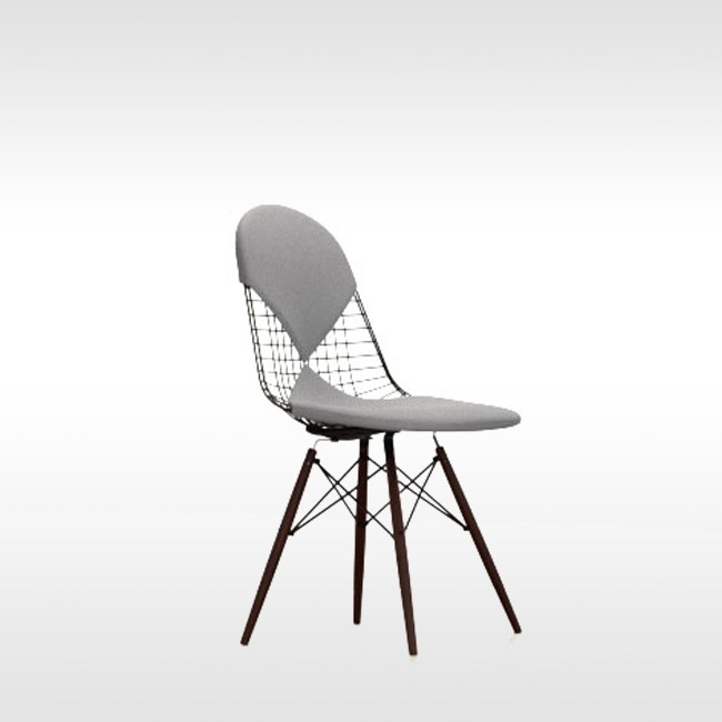 Vitra stoel Wire Chair DKW-2 Textiel door Charles & Ray Eames