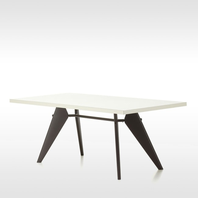 Vitra tafel EM Table HPL Ivoor tafelblad door Jean Prouvé