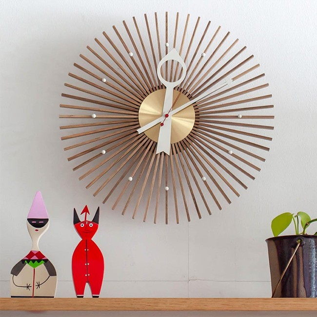 Vitra klok Popsicle Clock door George Nelson