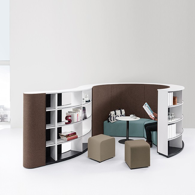 Werner Works akoestische zitplek Basic Flow SIT Layout 4 door Büro + Staubach
