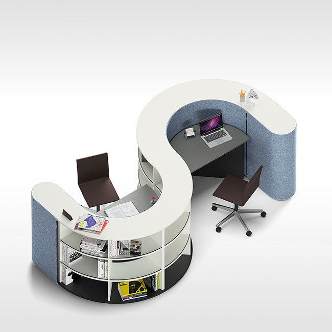 Werner Works werkstation Basic Flow FOCUS Layout 3 door Büro + Staubach